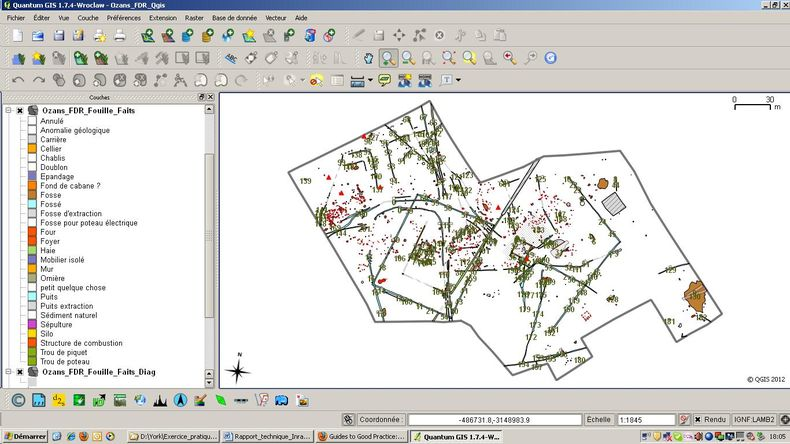 GIS project associated with the database.
