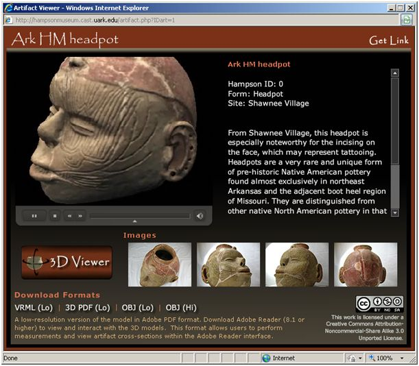 Virtual Hampson Museum website