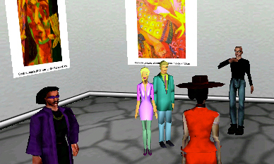 Visitors represented by avatars in CyberAxis